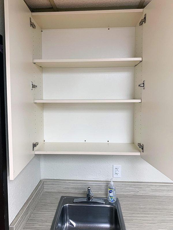 Upper cabinet casework